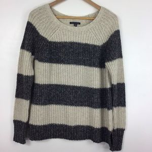 American Eagle Outfitters Large Striped Sweater